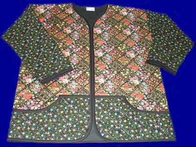 Sweatshirt to Quilted Jacket - Floral Delight